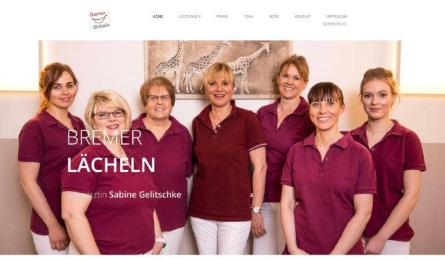 Projekt Webseite für Praxis Bremer Lächeln